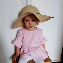 Bluzki dziewczęce bawełniane: Bluzka bawełniana z falbankami dziewczynka