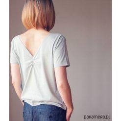 Jasnoszara gładka dwustronna bluzka S-XL. Szare bluzki damskie marki Pakamera, s, z bawełny, z dekoltem w łódkę. Za 65,00 zł.