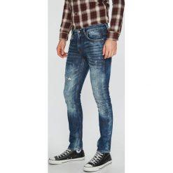 Guess Jeans - Jeansy Miami. Szare jeansy męskie skinny marki Guess Jeans, l, z aplikacjami, z bawełny. Za 459,90 zł.