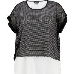 Bluzki asymetryczne: City Chic CONTRAST Bluzka black