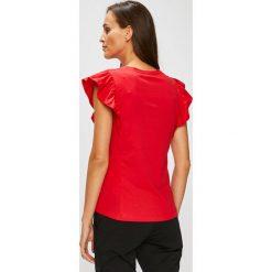 Answear - Top Stripes Vibes. Różowe topy damskie ANSWEAR, l, z bawełny, z okrągłym kołnierzem. W wyprzedaży za 47,90 zł.