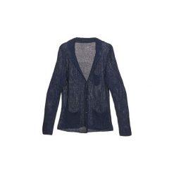 Swetry rozpinane / Kardigany Sisley  KAMAKO. Niebieskie kardigany męskie Sisley, l. Za 383,20 zł.