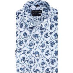 Koszula SIMONE KDWS000389. Szare koszule męskie na spinki marki S.Oliver, l, z bawełny, z włoskim kołnierzykiem, z długim rękawem. Za 199,00 zł.