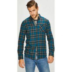 Tom Tailor Denim - Koszula. Szare koszule męskie na spinki TOM TAILOR DENIM, l, w kratkę, z bawełny, button down, z długim rękawem. W wyprzedaży za 139,90 zł.