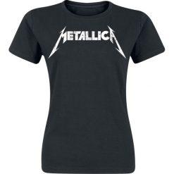 Bluzki asymetryczne: Metallica Textured Logo Koszulka damska czarny