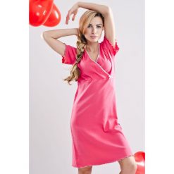 Koszula nocna dla ciężarnych i karmiących Rose. Czerwone bielizna ciążowa marki DOMYOS, z elastanu. Za 86,99 zł.