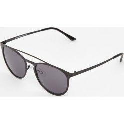 Czarne okulary przeciwsłoneczne cat eye. Czarne okulary przeciwsłoneczne męskie aviatory Pull&Bear. Za 59,90 zł.