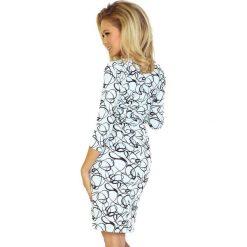Gloria Sukienka z ładnym dekoltem i rękawkiem. Białe sukienki hiszpanki numoco, s. Za 149,99 zł.