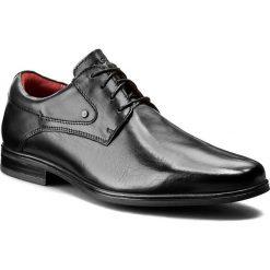 Półbuty LASOCKI FOR MEN - MB-STOKE-06 Czarny. Czarne buty wizytowe męskie Lasocki For Men, z materiału. Za 179,99 zł.