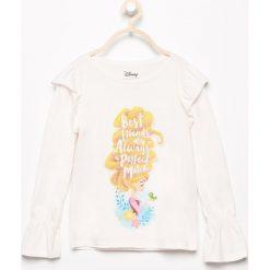 T-shirty dziewczęce: Bluzka z falbankami disney – Kremowy