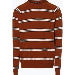 Review - Sweter męski, beżowy. Brązowe swetry klasyczne męskie Review, l, w paski, z wełny. Za 179,95 zł.