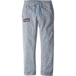 Spodnie męskie: Spodnie dresowe melanżowe bonprix szaro-niebieski melanż