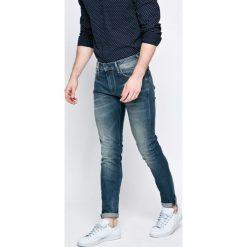 Pepe Jeans - Jeansy Stanley. Niebieskie jeansy męskie z dziurami Pepe Jeans. W wyprzedaży za 279,90 zł.