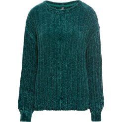 Sweter z szenilii bonprix niebieskozielony morski. Brązowe swetry oversize damskie marki DOMYOS, xs, z bawełny. Za 74,99 zł.