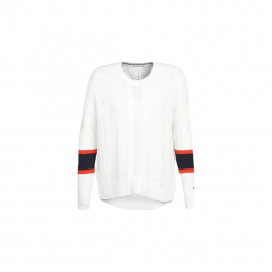 Swetry Tommy Hilfiger  VERLENE C-NK. Brązowe swetry klasyczne damskie TOMMY HILFIGER, l. Za 619,00 zł.