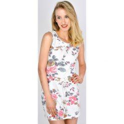 Odzież damska: Sukienka w kwiaty ze ściagaczem