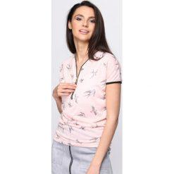 Bluzki damskie: Jasnoróżowy T-shirt Don't Ask