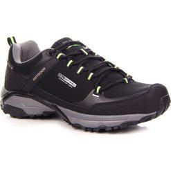 Buty trekkingowe męskie: Czarne buty trekkingowe męskie wodoodporne DK