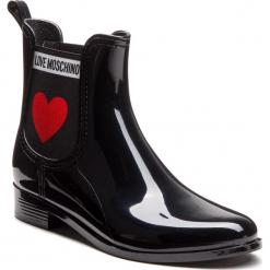 Kalosze LOVE MOSCHINO - JA21013G16IJ0000  Nero. Czarne buty zimowe damskie Love Moschino, z materiału. Za 479,00 zł.