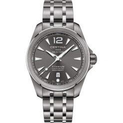 RABAT ZEGAREK CERTINA DS Action C032.851.44.087.00. Szare zegarki męskie CERTINA, szklane. W wyprzedaży za 2103,20 zł.