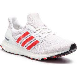 Buty adidas - Ultraboost DB3199 Ftwwht/Actred/Cwhite. Białe buty do biegania męskie Adidas, z materiału. Za 749,00 zł.