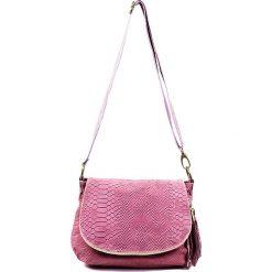 """Torebki klasyczne damskie: Skórzana torebka """"Maelie"""" w kolorze jasnoróżowym – 29 x 24 x 8 cm"""