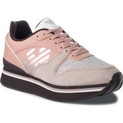 Sneakersy EMPORIO ARMANI - X3X046 XL214 L058 Plaster/Nude. Szare sneakersy damskie marki Emporio Armani, l, z nadrukiem, z bawełny, z okrągłym kołnierzem. Za 769,00 zł.