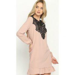 Różowa Sukienka Apparent. Różowe sukienki letnie marki numoco, l, z dekoltem w łódkę, oversize. Za 59,99 zł.