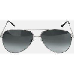 Srebrne okulary przeciwsłoneczne. Szare okulary przeciwsłoneczne męskie aviatory Kazar, z tworzywa sztucznego, owalne. Za 399,00 zł.