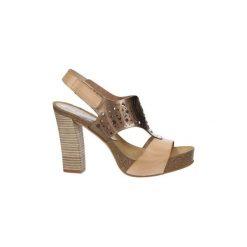 Sandały Ana Roman  Sandały skórzane ażurowe  17344. Brązowe sandały trekkingowe damskie Ana Roman, w ażurowe wzory. Za 229,99 zł.