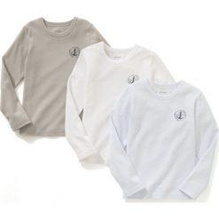 Podkoszulek z długim rękawem 2-12 lat (zestaw 3 szt.). Niebieskie t-shirty chłopięce z długim rękawem La Redoute Collections, z nadrukiem, z dzianiny. Za 72,41 zł.