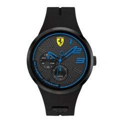 """Zegarek """"0830395-FXX"""" w kolorze czarnym. Czarne, analogowe zegarki męskie Lacoste, sztuczne. W wyprzedaży za 619,95 zł."""