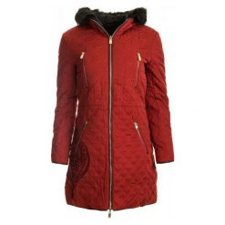 Płaszcze damskie pastelowe: Desigual Płaszcz Damski Azul 36 Czerwony