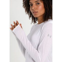 Under Armour THREADBORNE SWYFT LS Koszulka sportowa white. Białe t-shirty damskie Under Armour, xl, z materiału, z długim rękawem. Za 189,00 zł.