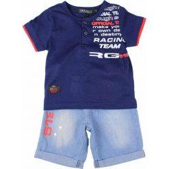 T-shirty chłopięce z krótkim rękawem: 2-częściowy zestaw w kolorze niebiesko-błękitnym