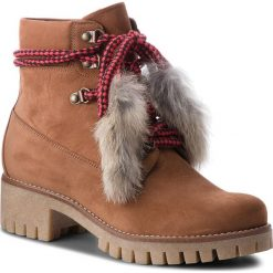 Trapery EVA MINGE - Icod 4I 18BD1372645EF  404. Brązowe buty zimowe damskie Eva Minge, z materiału. W wyprzedaży za 419,00 zł.