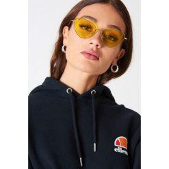 Okulary przeciwsłoneczne damskie aviatory: NA-KD Urban Okulary przeciwsłoneczne Cat Eye – Yellow