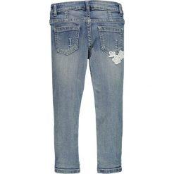 Brums - Jeansy dziecięce 92-122 cm. Niebieskie jeansy dziewczęce Brums, z haftami, z bawełny. W wyprzedaży za 179,90 zł.