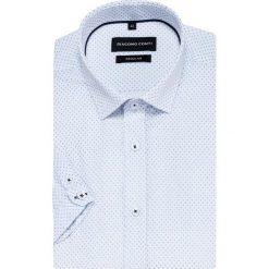 Koszula SIMONE slim KKWR000014. Niebieskie koszule męskie slim marki bonprix, m, z nadrukiem, z klasycznym kołnierzykiem, z długim rękawem. Za 169,00 zł.