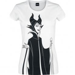 Śpiąca królewna Maleficent - Groupie Koszulka damska biały. Białe bluzki asymetryczne Śpiąca królewna, l, z nadrukiem, z dekoltem na plecach. Za 79,90 zł.