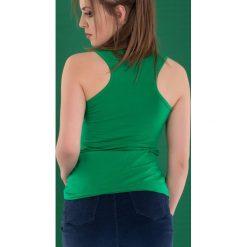 Bluzka basic bokserka soczysta zieleń. Zielone bluzki damskie Yups, l, z bawełny, młodzieżowe. Za 29,99 zł.