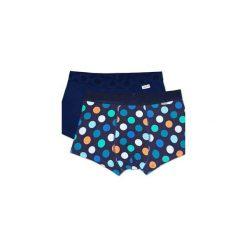 Bielizna męska Happy Socks - 2Pack Big Dot Trunk (BDO96-6000). Niebieskia bokserki męskie marki Quiksilver, z materiału, sportowe. Za 119,90 zł.