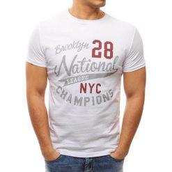 T-shirty męskie z nadrukiem: T-shirt męski z nadrukiem biały (rx2646)