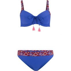 """Bikini na fiszbinach """"minimizer"""" (2 części) bonprix niebieski. Niebieskie bikini bonprix. Za 89,99 zł."""