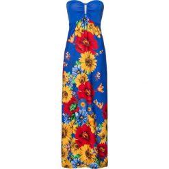 Sukienki: Sukienka bonprix niebieski w kwiaty