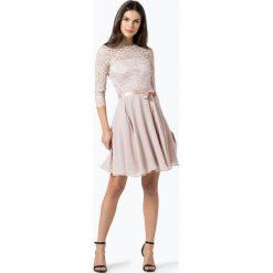 Swing - Elegancka sukienka damska, beżowy. Brązowe sukienki balowe Swing, w koronkowe wzory, z koronki. Za 699,95 zł.
