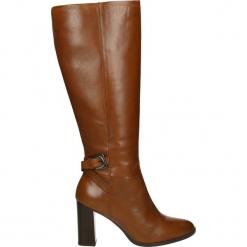 Kozaki - 1603373 S BRU. Brązowe buty zimowe damskie Venezia, ze skóry. Za 249,00 zł.