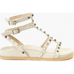 Rzymianki damskie: Sandały beżowe Summer