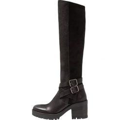 Felmini COSMOS Kozaki na platformie black. Czarne buty zimowe damskie marki Kazar, z futra, przed kolano, na wysokim obcasie, na koturnie. Za 839,00 zł.