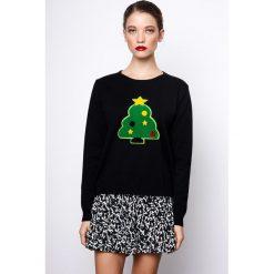 Kardigany damskie: Sweter z okrągłym wycięciem szyi z grubej dzianiny